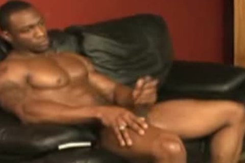 smutty 10 Inch black Muscle God Shows And Jacksoff