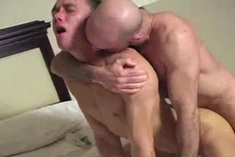 Two charming twinks have passionate anal action in bedroom