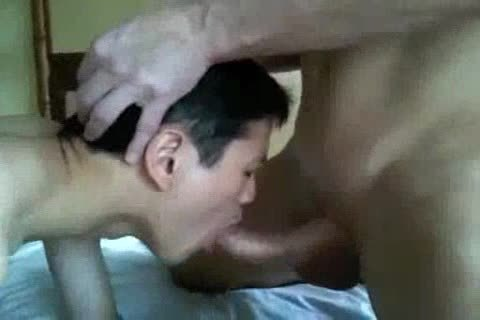 raw Interacial asian And White Eat sperm