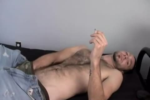 palatable Smoking Alternative guy Wirh hairy Armpit