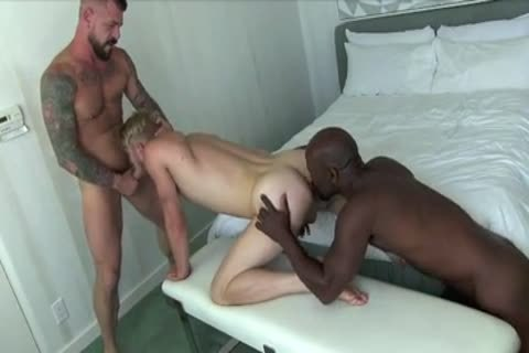 large-dicked Interracial Daddies Share Blond Hunk