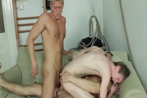 bunch-sex, kissing, irrumation-service stimulation job, arsehole sex, B