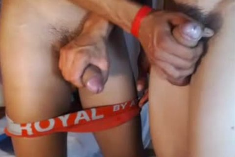 two fashionable Romanian boyz bunch sex, palatable Blowjobs And love juice On web camera