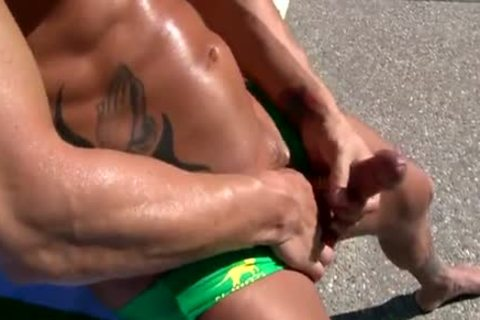 [GVC 207] palatable powerful chap Masturbating By The Pool