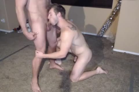 two Muscle males in nature's garb Wrestling.The  Loser One Gives A suck job-stimulation enjoyment. sperm Facial first Time On web camera.