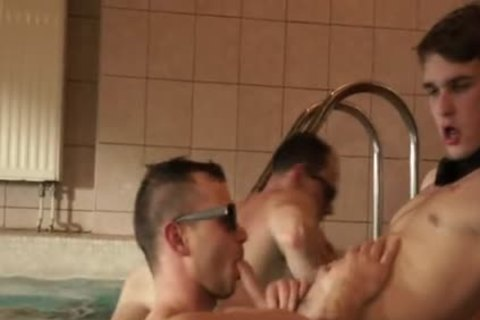 Inside His ass In The Pool
