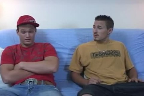 Straight Male Pair Cumming clips homosexual Taking A Seat On The