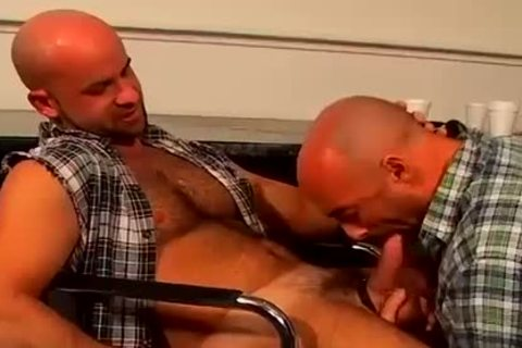 bald head homosexual Hunks rough And bare anal fucking