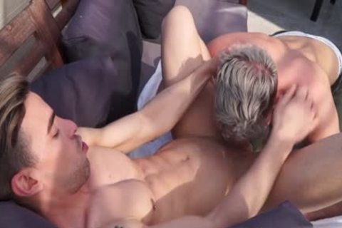Muscle homo butthole stab With Facial