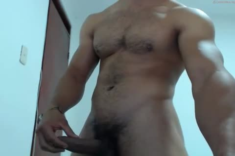 pumped up Latino shoots A gigantic Load To His wild Abs