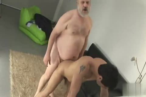 plump old guy With juvenile twink