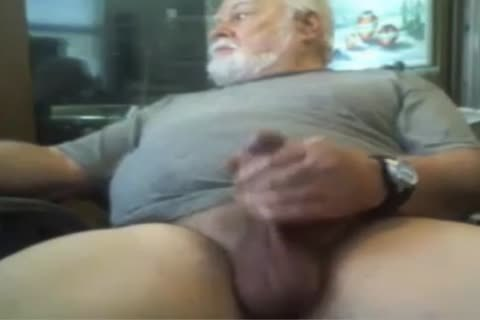 grandad jack off On cam