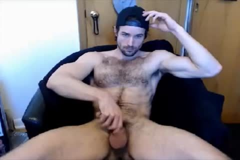 handsome hairy lad handjob On webcam