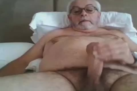 grandpa wank On web camera