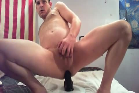 Crushing My Own Guts With A biggest dildo