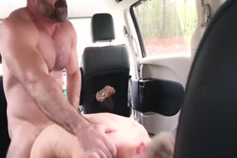 Daddy Teaches  Son A Lesson In The Back Of Car
