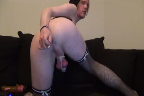 Sissy serf Cums Handsfree tiny cock In Chastity