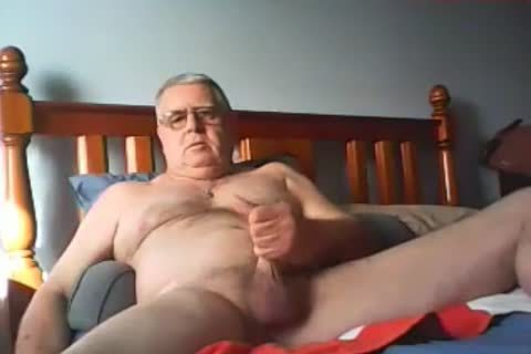 grand-dad sperm On webcam