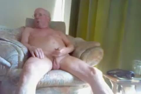 grandad spooge On web camera