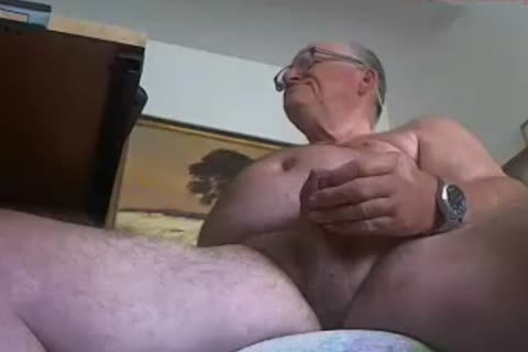 old man sperm On web camera