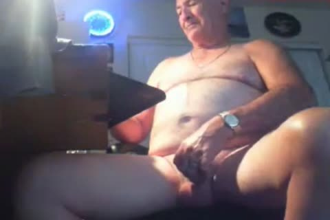 grand-dad wank On webcam