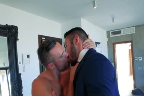 Muscle homosexual arse stab With ejaculation