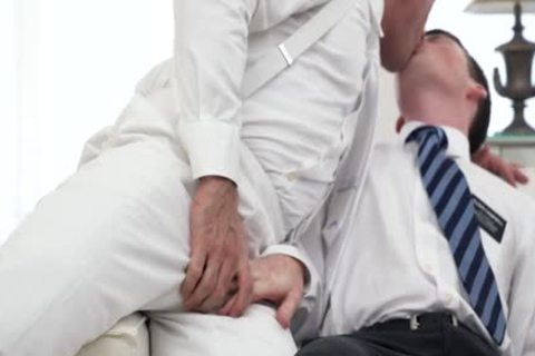 Ginger Bottom Passionately fucked bare By old Priest