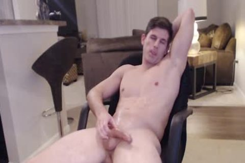 Straight Ripped Hunk loves Fingering His anal