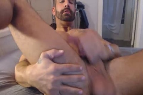 Straight dude Plays With His butthole And Monster penis