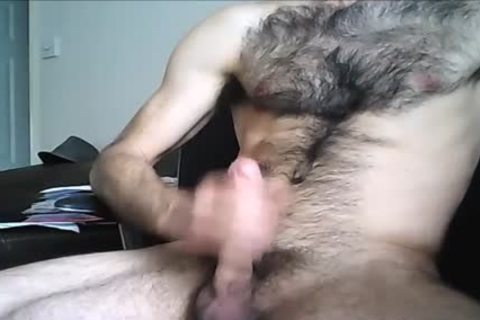 hairy Hung dude shoots A gigantic Load