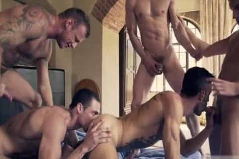 sweet gay DP With ejaculation