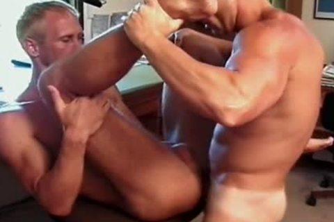 Tyler And Roberts engulfing dongs And Cumming