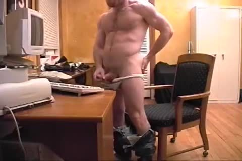 Russel Jerks Off for web camera
