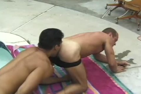 moist nubiles engulf Each Other Off By The Pool