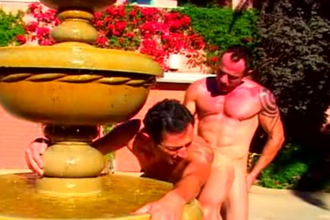 cock on cock at the fountain