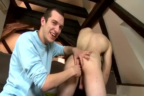 Dirty chap jerking off shlong acquires sucked