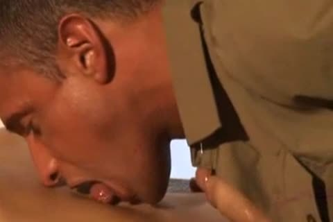 homo males in uniform butthole penetration.