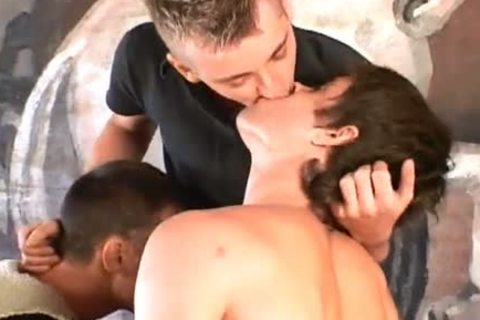 three-some Fingering And plowing