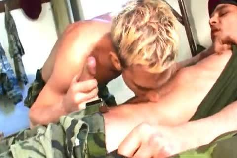 Two military boys in homo sex in their compass