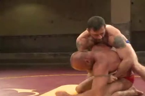 Muscle homosexuals plough After Wrestling Match