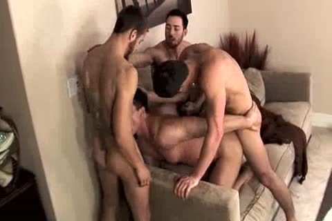 Four yummy males At It