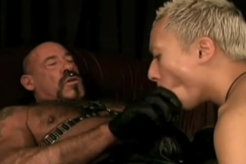 amoral Leather Daddy Subdues slit lad