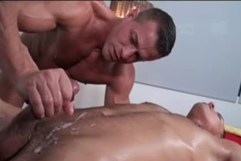 Concupiscent homo men anal pounding nailing