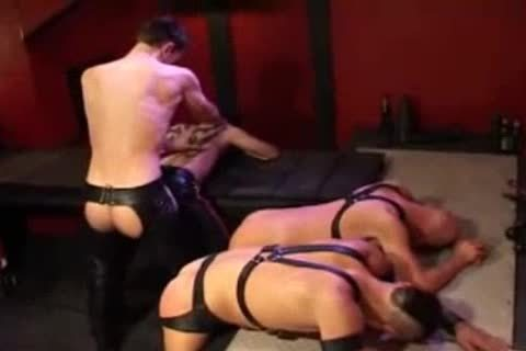 Leather anal banging And Fisting