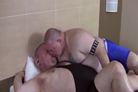 overweight hirsute Dads nail Each Other