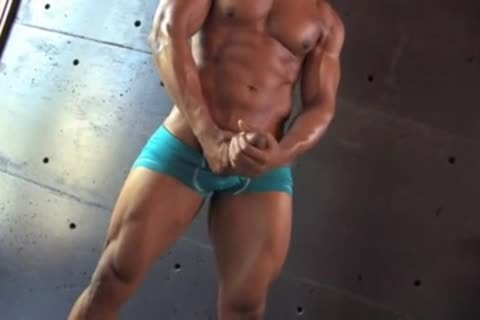 nice-looking darksome Muscle lad