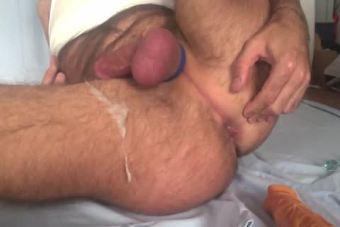 Showing My Freshly bald Balls And aperture whilst Playing With My wazoo Beads And 8-inch fake 10-Pounder. Great sperm discharged All Over My bushy Legs At The End