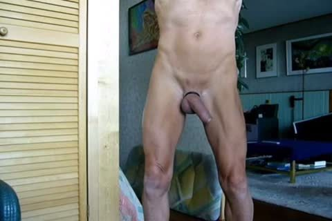 Stripping, Swinging My weenie, Jerking-off And Cummin In The End