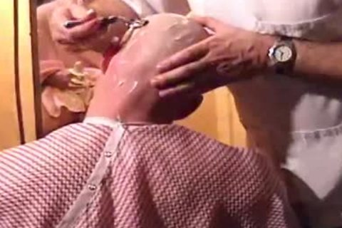 This Harder Treats His Client Well  oral enjoyment job Shave Bald Sex Her Off II