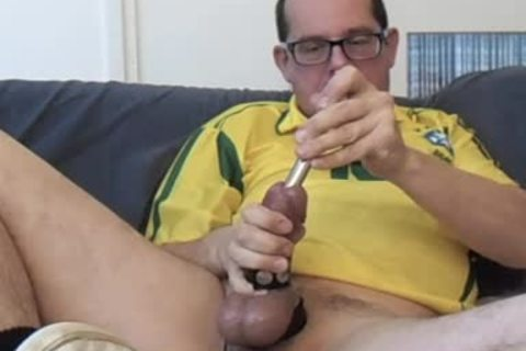 Masturbating thirty Minute Session. Half Hour Of Cbt And Urethra Sounding. I Marked (color Tip) My Sounds So you Could Clearly watch The 16, 17 And 18mm. Wearing My Yellow Brasil Soccer Shirht, Sniffing A Lot From The Yellow Little Bottle.